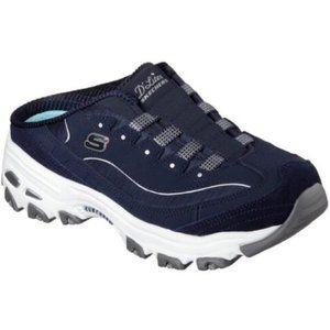 Skechers D'Lite Memory Foam Mule Slip On Sneakers